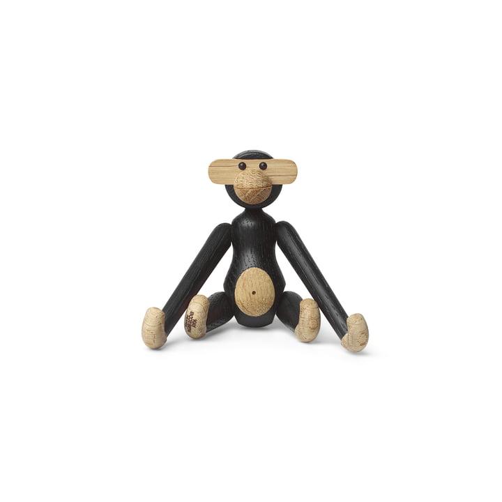 Holz-Affe mini von Kay Bojesen in Eiche schwarz gebeizt