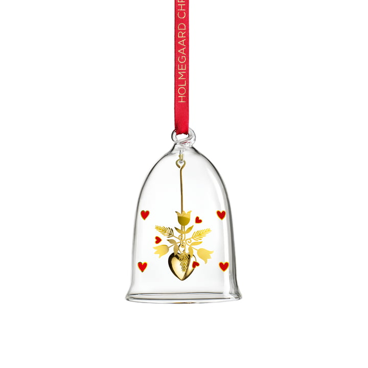 Die Weihnachtsglocke 2020, H 8 cm, Glas von Holmegaard