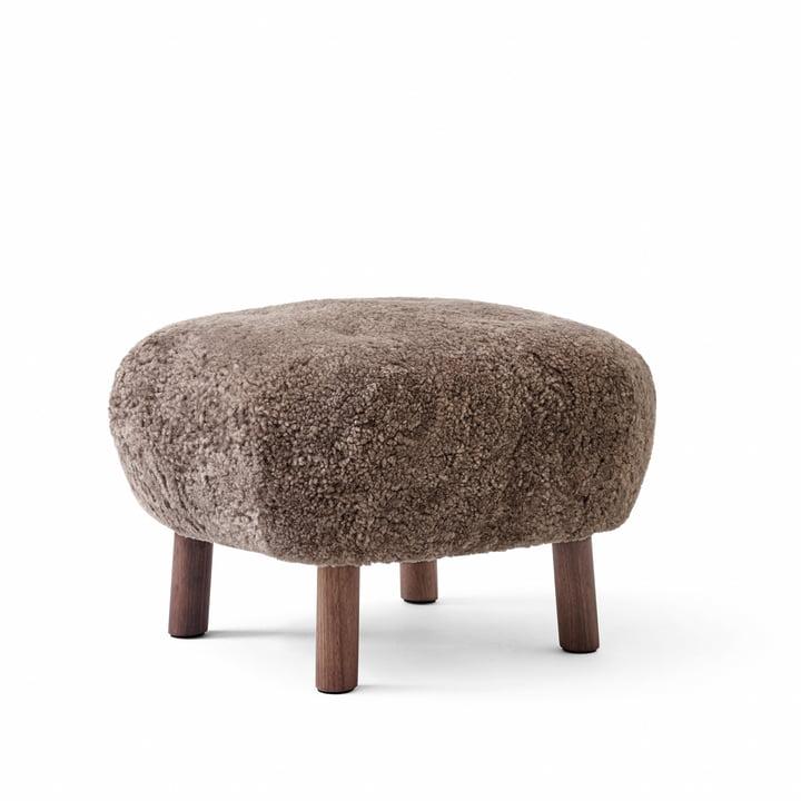 Der Pouf ATD1, Sheep Sahara / Walnuss von &tradition