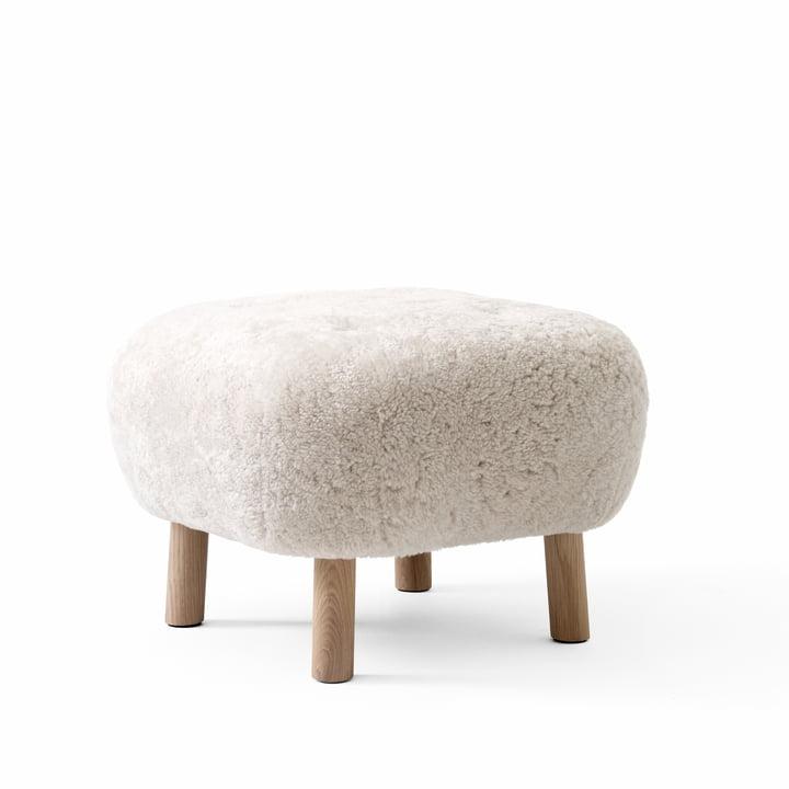 Der Pouf ATD1, Sheep Moonlight / Eiche weiß pigmentiert von &tradtion