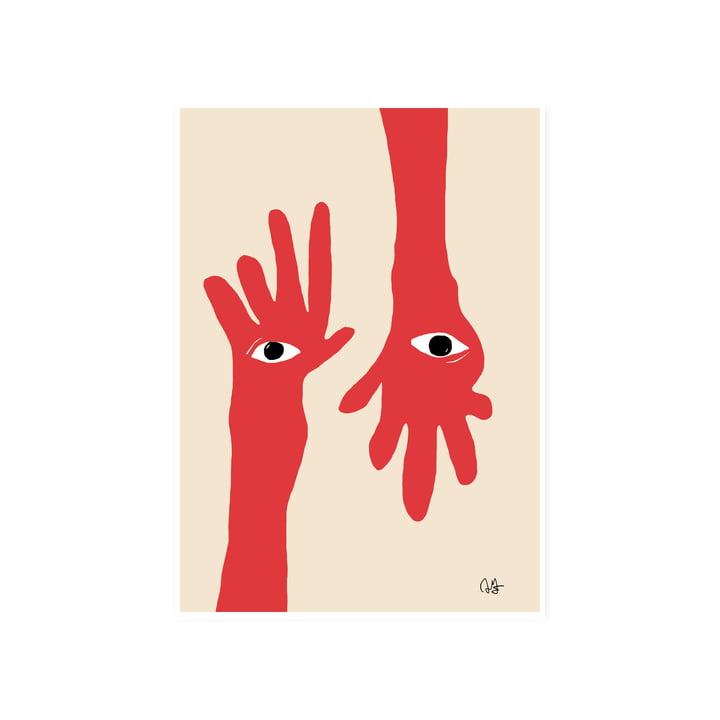 Das Hamsa Hands Poster, 50 x 70 cm von Paper Collective