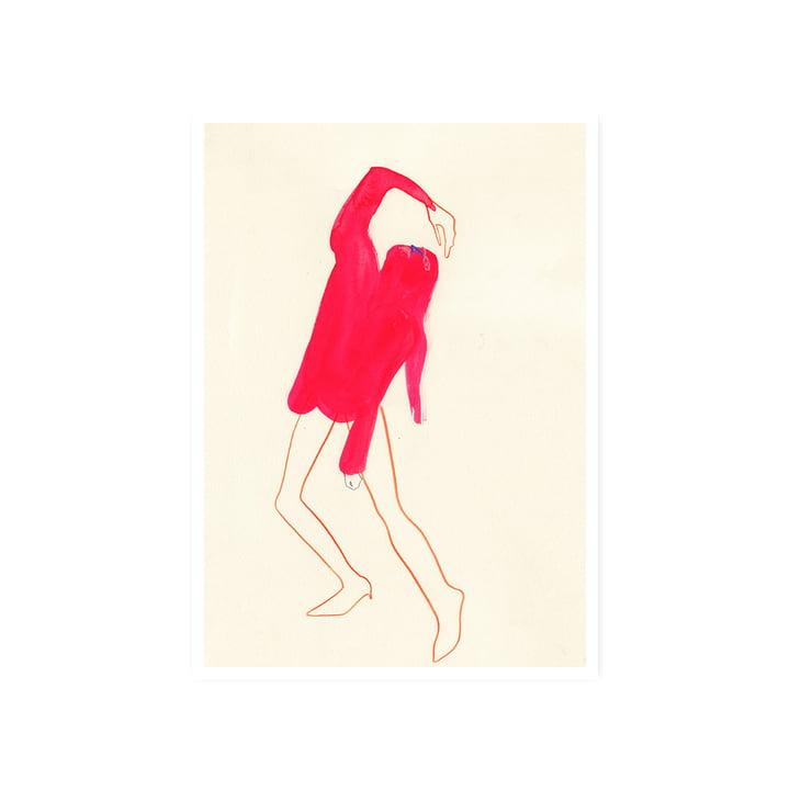 Das Pink Pose Poster, 50 x 70 cm von Paper Collective
