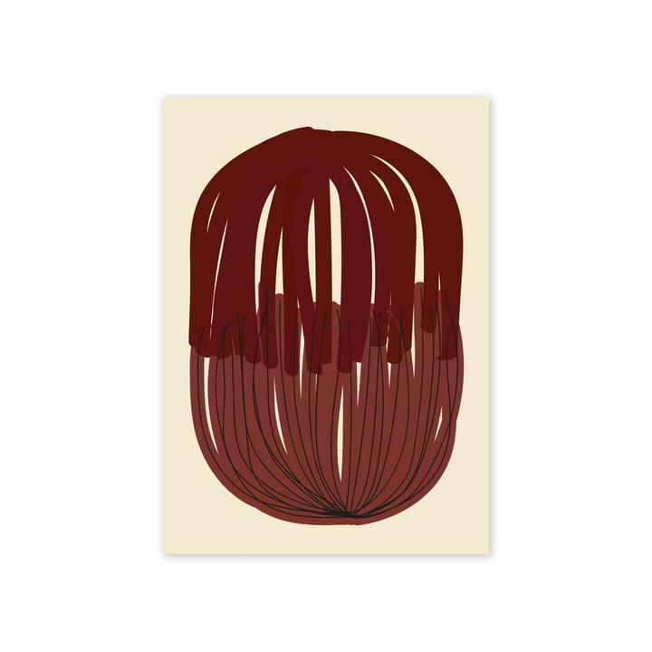 Das Stacked Lines 01 Poster, 50 x 70 cm von Paper Collective