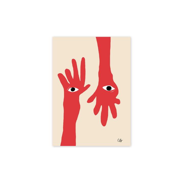Das Hamsa Hands Poster, 30 x 40 cm von Paper Collective