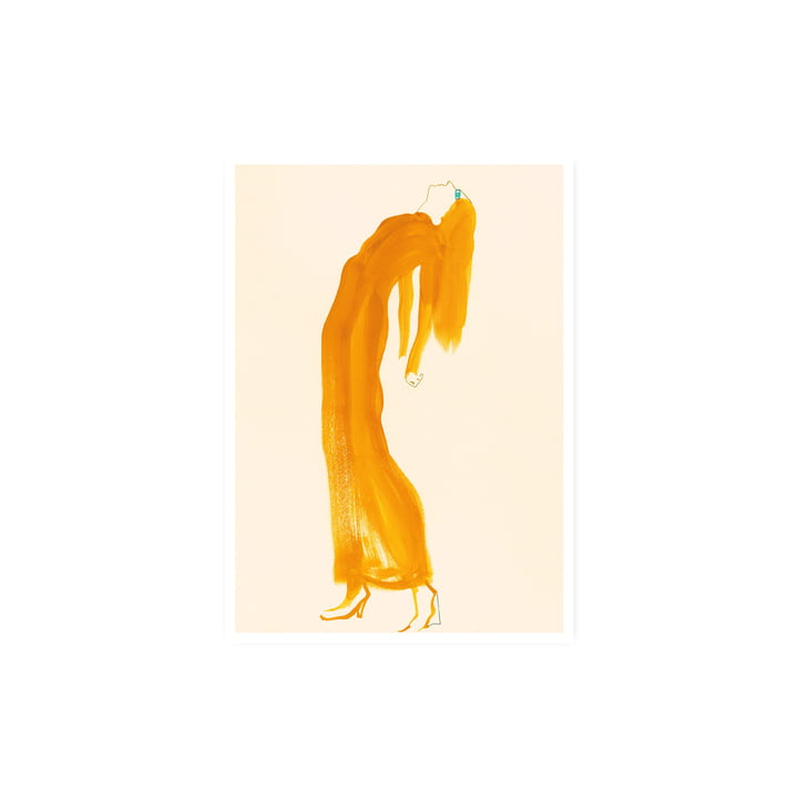 The Saffron Dress Poster, 30 x 40 cm von Paper Collective