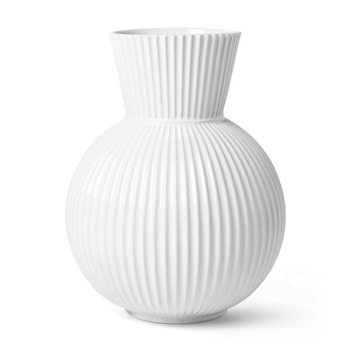 Die Lyngby Tura Vase, H 34 cm, weiß von Lyngby Porcelæn