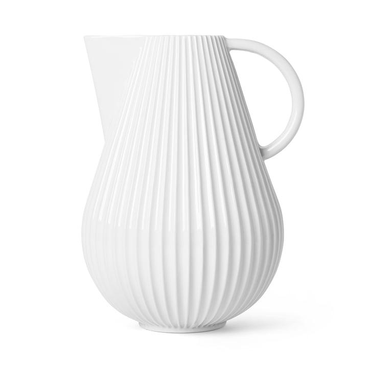 Die Lyngby Tura Jug Vase, H 27,5 cm, weiß von Lyngby Porcelæn