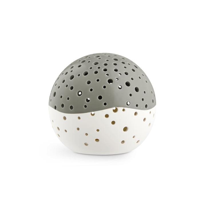 Nobili Teelichtleuchter Kugel Ø 14 cm, olivgrün von Kähler Design