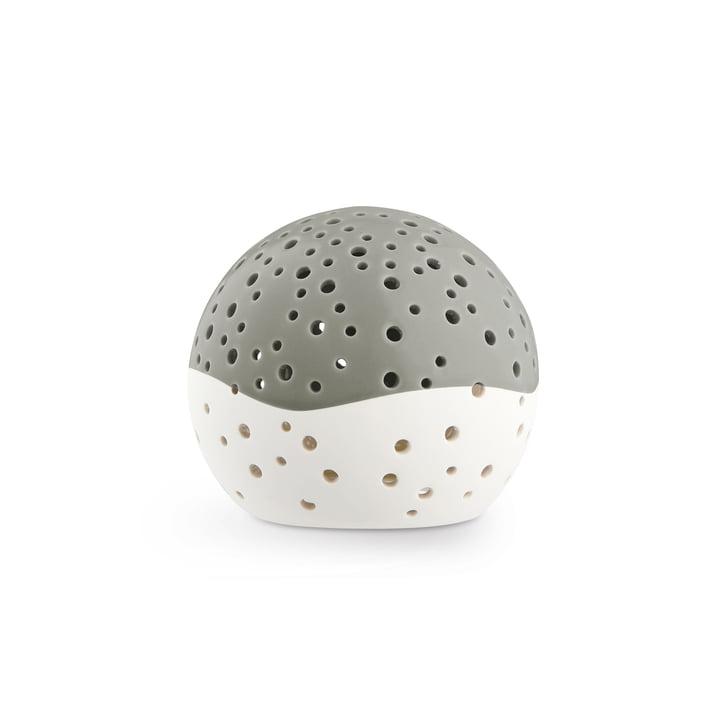 Nobili Teelichtleuchter Kugel Ø 12 cm, olivgrün von Kähler Design