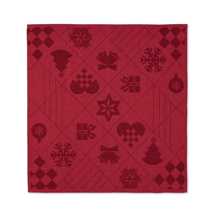 Natale Stoffservietten, 45 x 45 cm, rot von Juna
