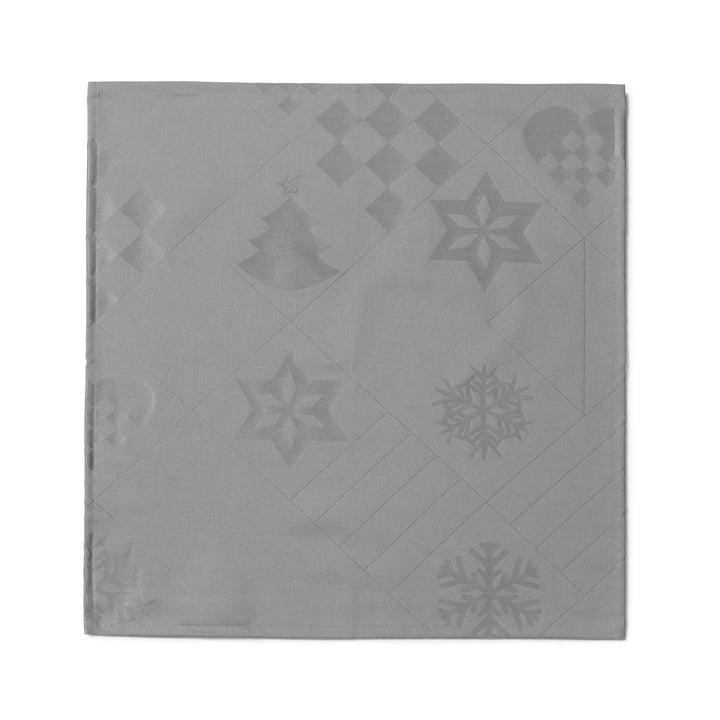 Natale Stoffservietten, 45 x 45 cm, grau von Juna