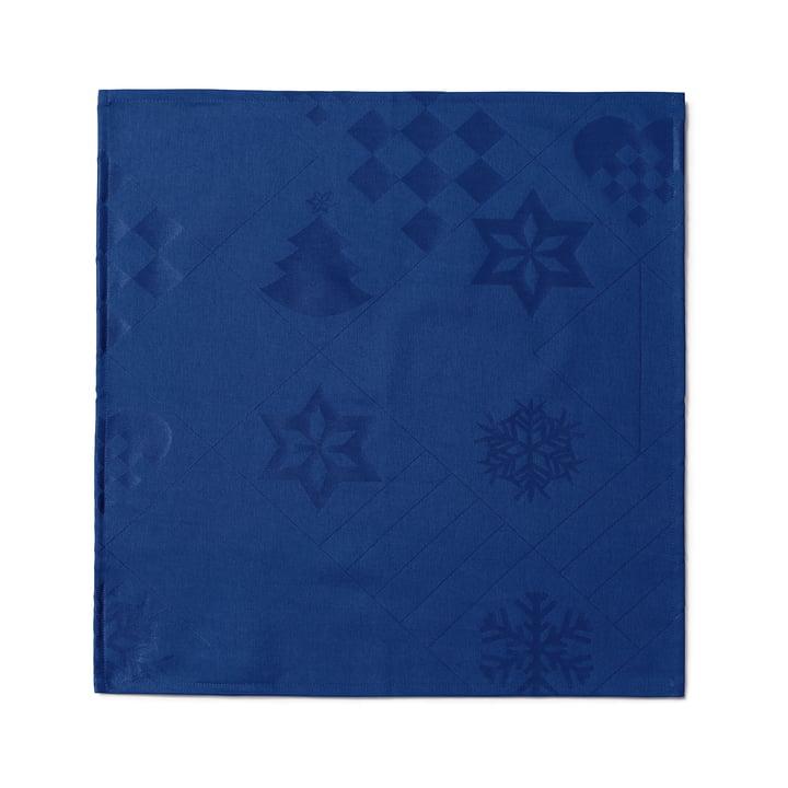 Natale Stoffservietten, 45 x 45 cm, blau von Juna