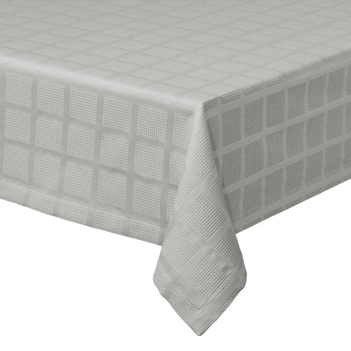 Brick Damast Tischdecke, 150 x 220 cm, grau von Juna