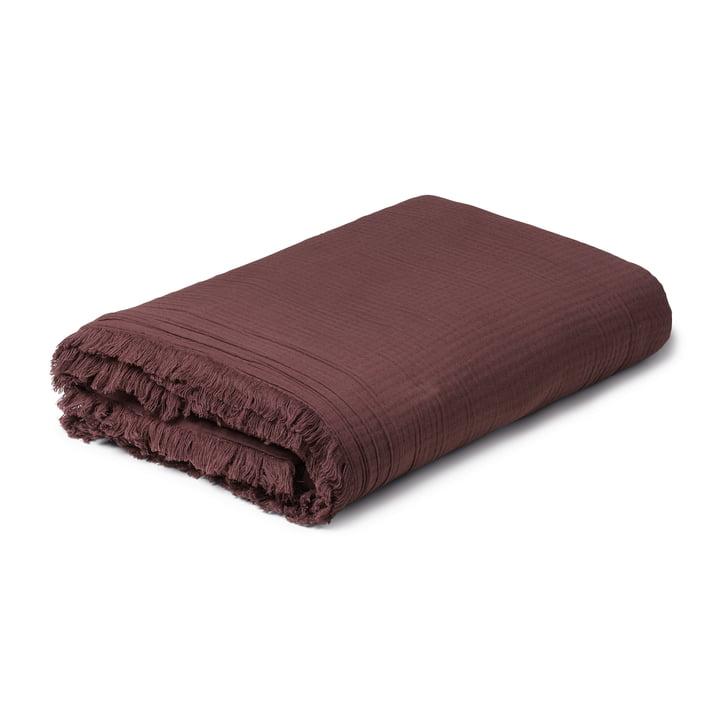View Wolldecke 130 x 190 cm, chocolate von Juna