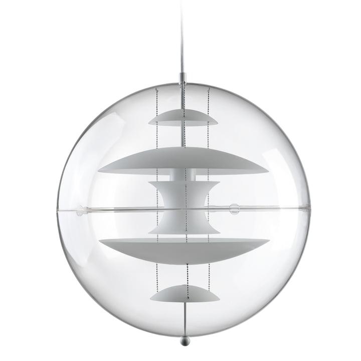 VP Globe Pendelleuchte Ø 50 cm, opalweiß / klar von Verpan