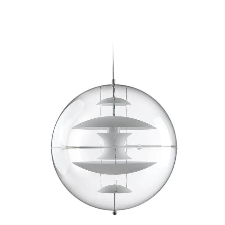 VP Globe Pendelleuchte Ø 40 cm, opalweiß / klar von Verpan