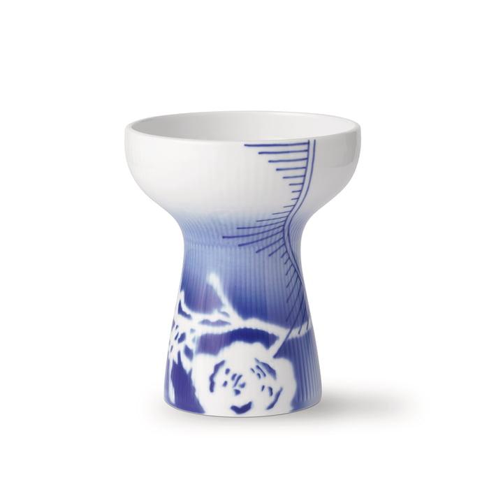 Die Mega Rose offen Gerippt Vase mittel H 15 cm (Limited Edition) von Royal Copenhagen