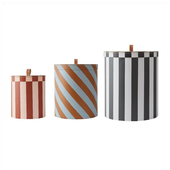 Die Aufbewahrungsbox, Stripe (3er-Set) von OYOY