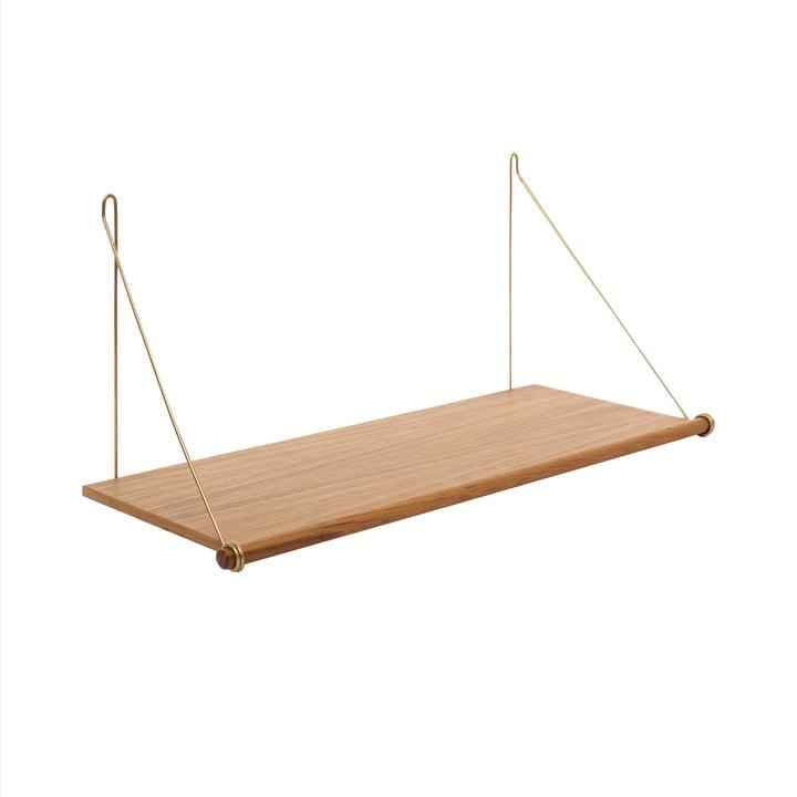Das Loop Shelf, Eiche / Messing von We Do Wood