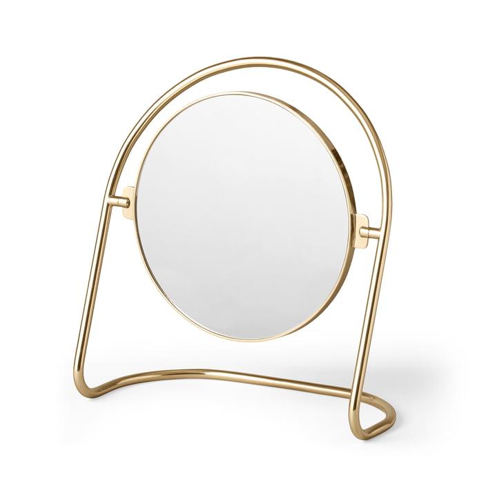 Der Nimbus Tischspiegel, Messing gold von Menu