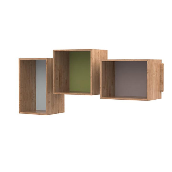 Das SJ Bookcase Midi (3er-Set), Eiche von We Do Wood