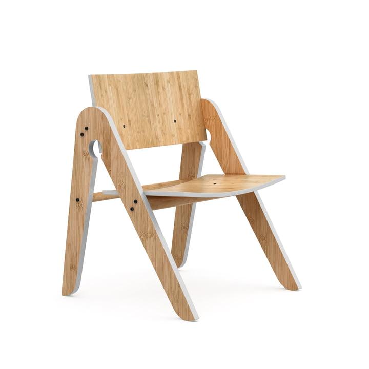 Der Lilly's Chair, Buche / Bambus / hellgrau von We Do Wood