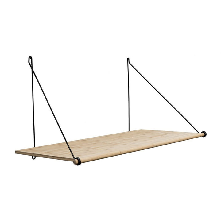 Das Loop Shelf, Eiche / Stahl schwarz von We Do Wood