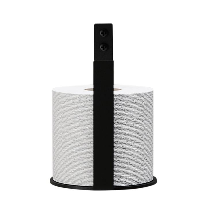 Der Toilettenpapier-Halter Extra von Nichba Design in schwarz