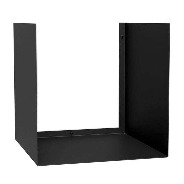 Die U-Shelve Wandablage von Nichba Design in schwarz