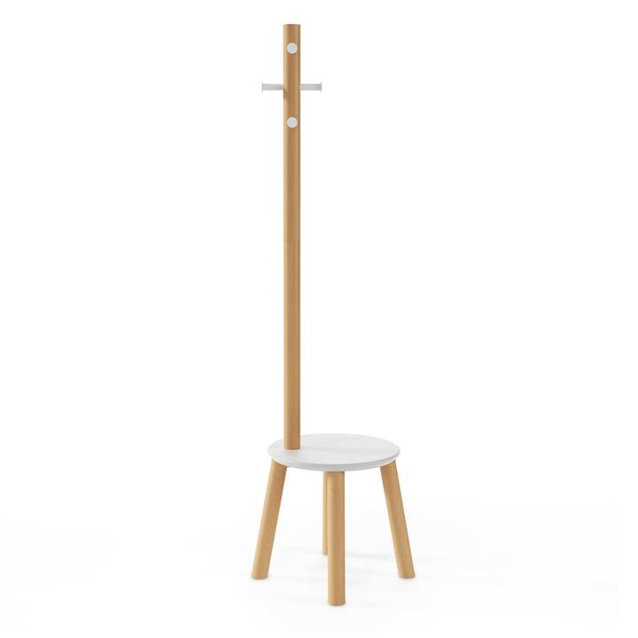 Der Pillar Hocker / Garderobenständer von Umbra in weiß