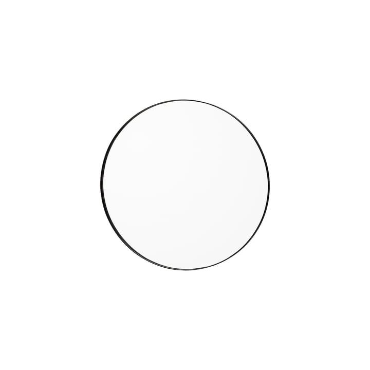 Der Circum Wandspiegel extra small, Ø 50 cm, klar / schwarz von AYTM