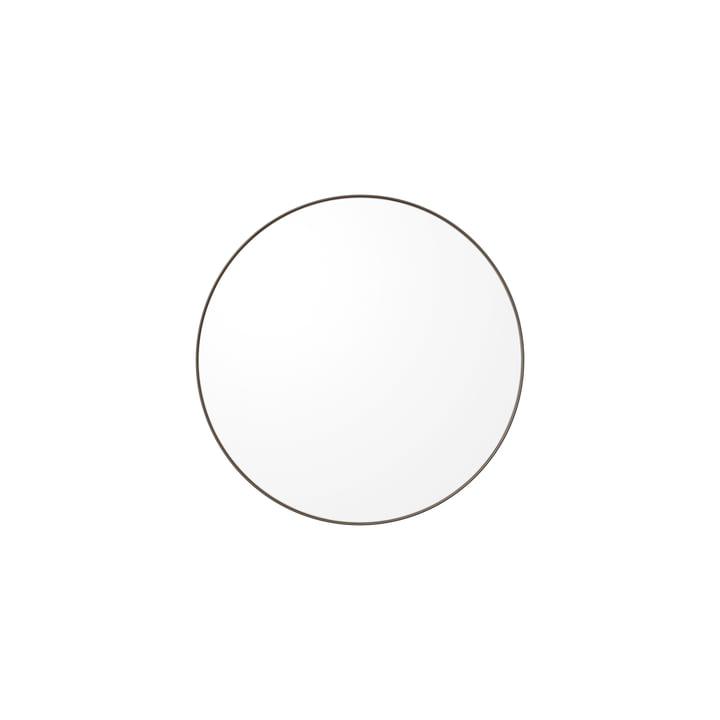 Der Circum Wandspiegel extra small, Ø 50 cm, klar / taupe von AYTM