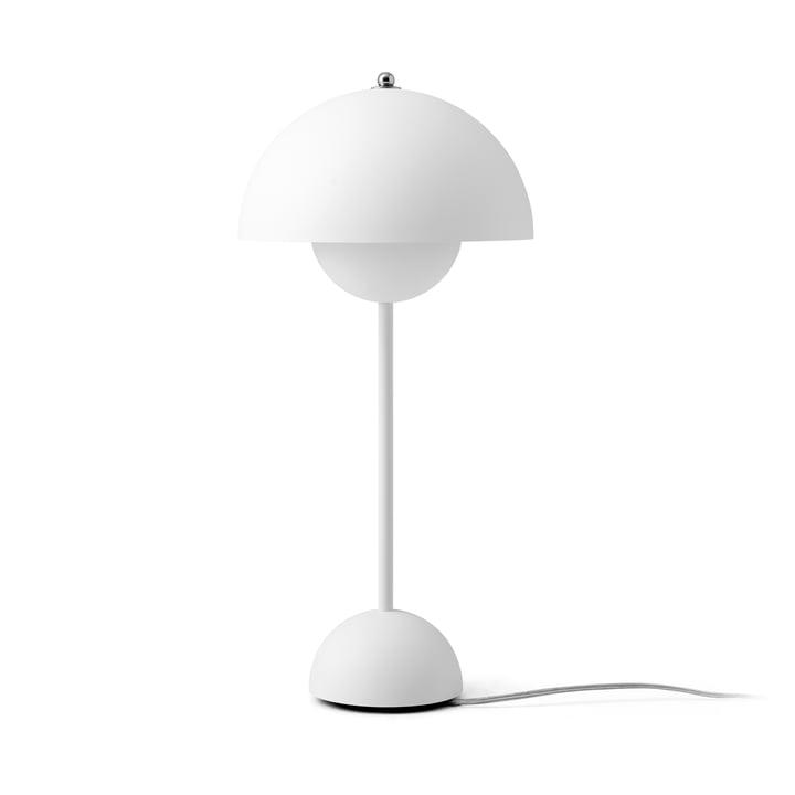 FlowerPot Tischleuchte VP3 von &tradition in matt weiß