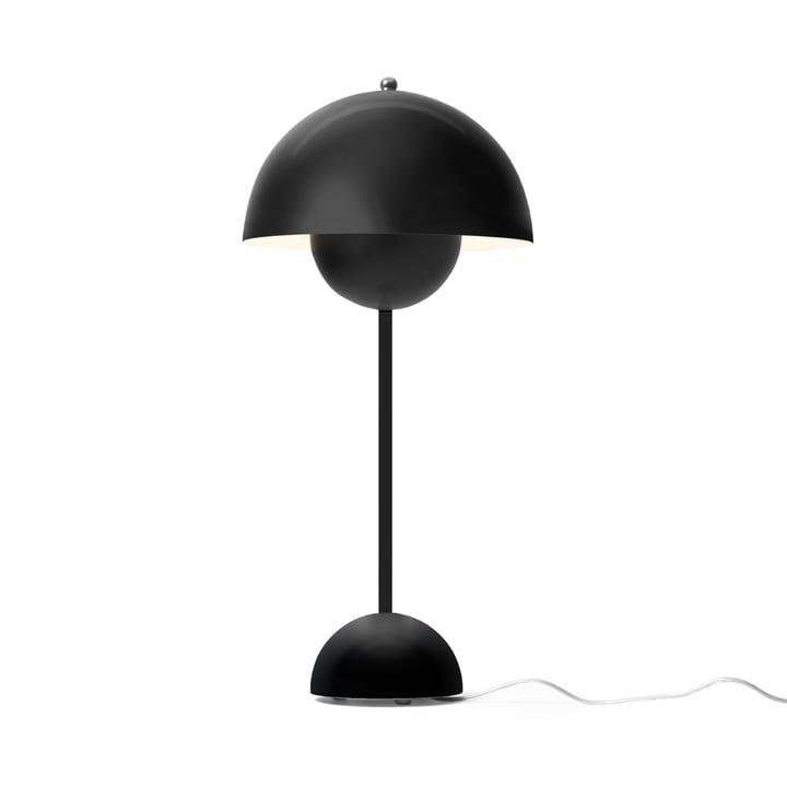 Die &tradition - FlowerPot Tischleuchte VP3 in schwarz matt