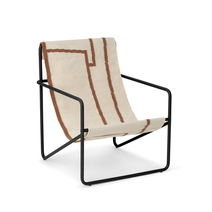 Der Desert Chair Kids von ferm Living in schwarz / shape