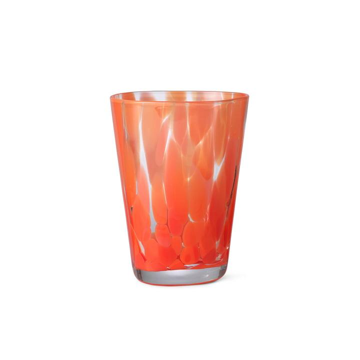 Das Casca Trinkglas von ferm Living in poppy red