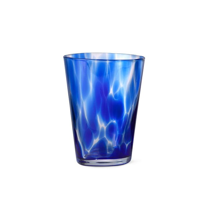 Das Casca Trinkglas von ferm Living in indigo