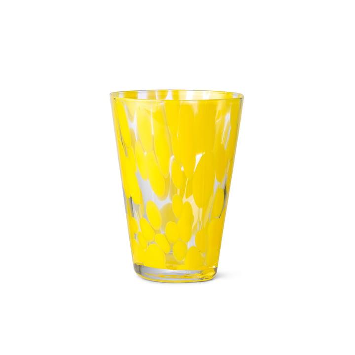 Das Casca Trinkglas von ferm Living in Dandelion