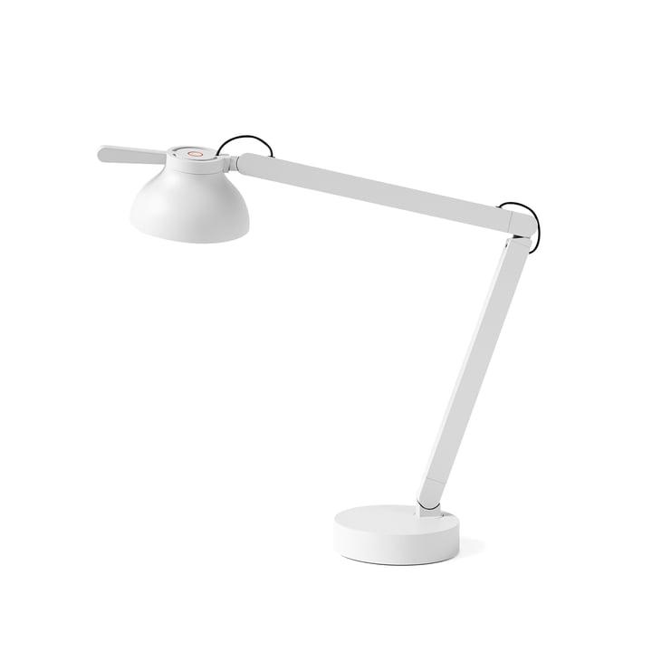 Die PC Double Arm LED Tischleuchte von Hay in ash grey
