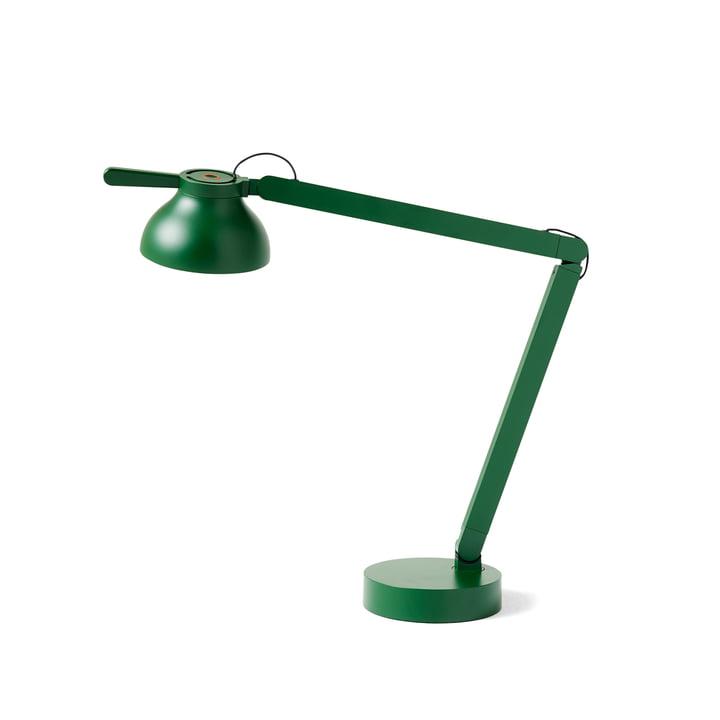 Die PC Double Arm LED Tischleuchte von Hay in leaf green