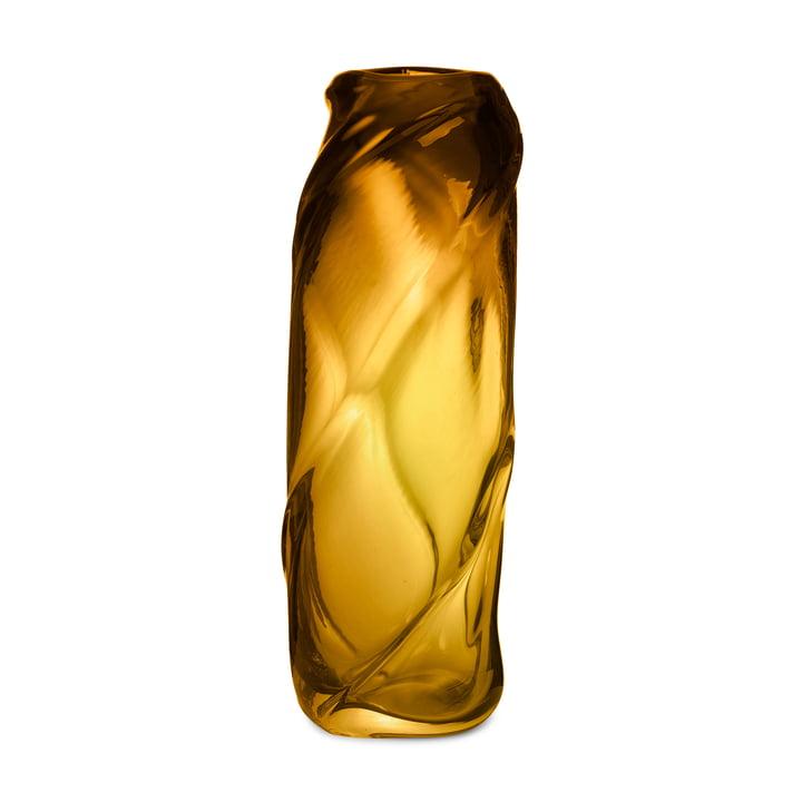 Die Water Swirl Vase von ferm Living in amber