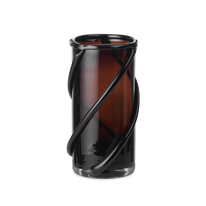 Die kleine Entwine Vase von ferm Living in dark amber