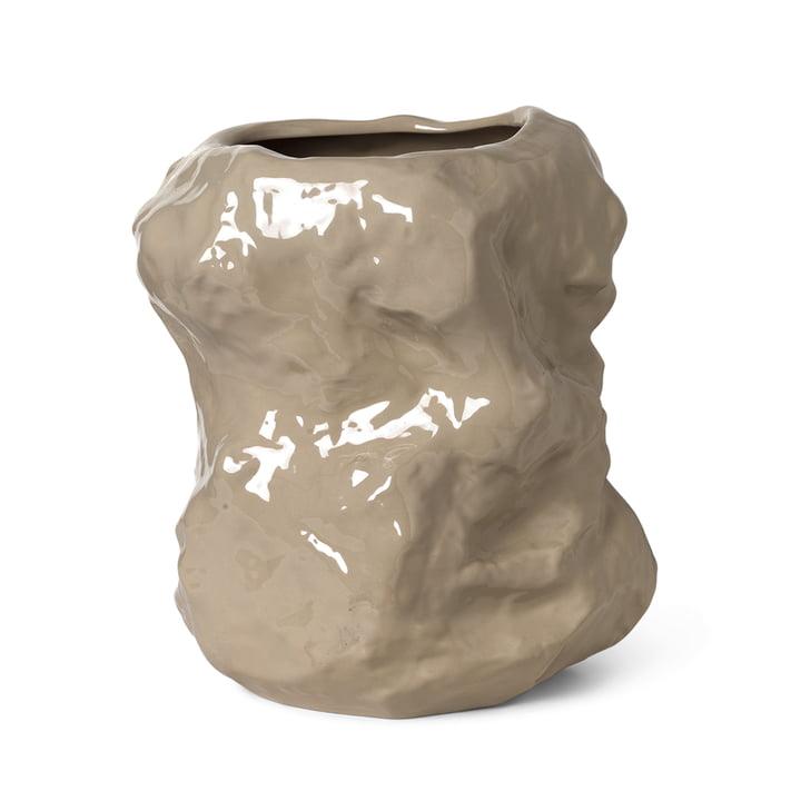 Die Tuck Vase von ferm Living in cashmere, 40 cm