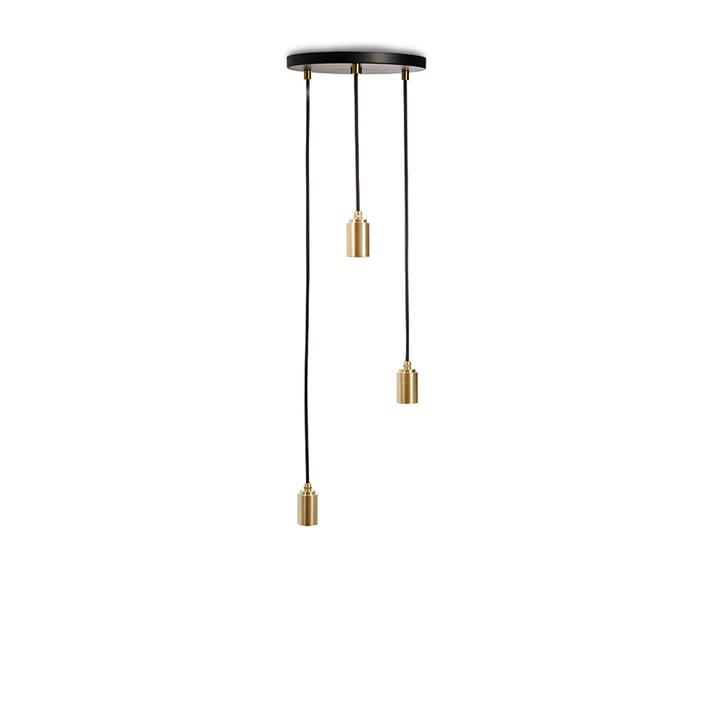 Brass Triple Pendelleuchte, schwarz / Messing von Tala