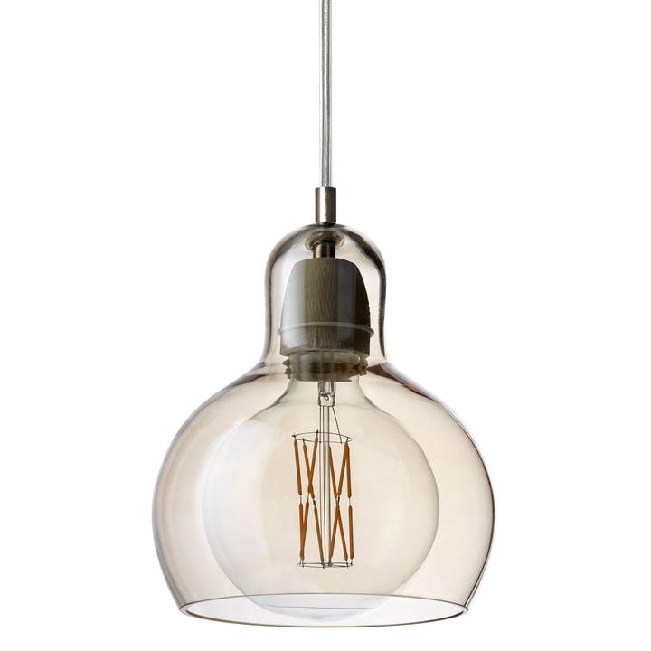 &tradition - MEGA Bulb Pendelleuchte SR2, Glasschirm gold / Kabel transparent