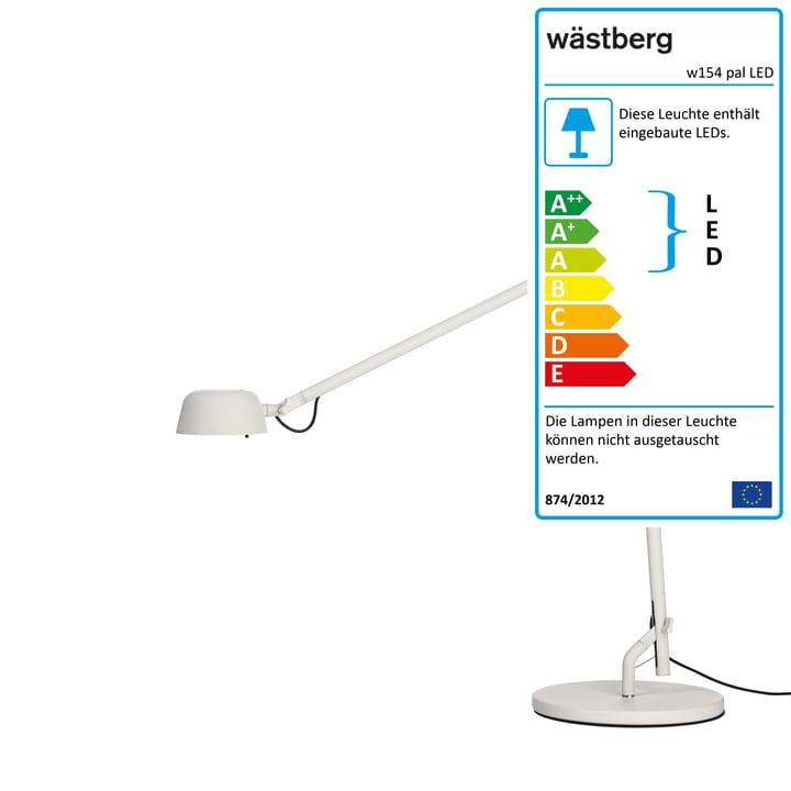 Die w154 pal LED Tischleuchte von Wästberg in weiß