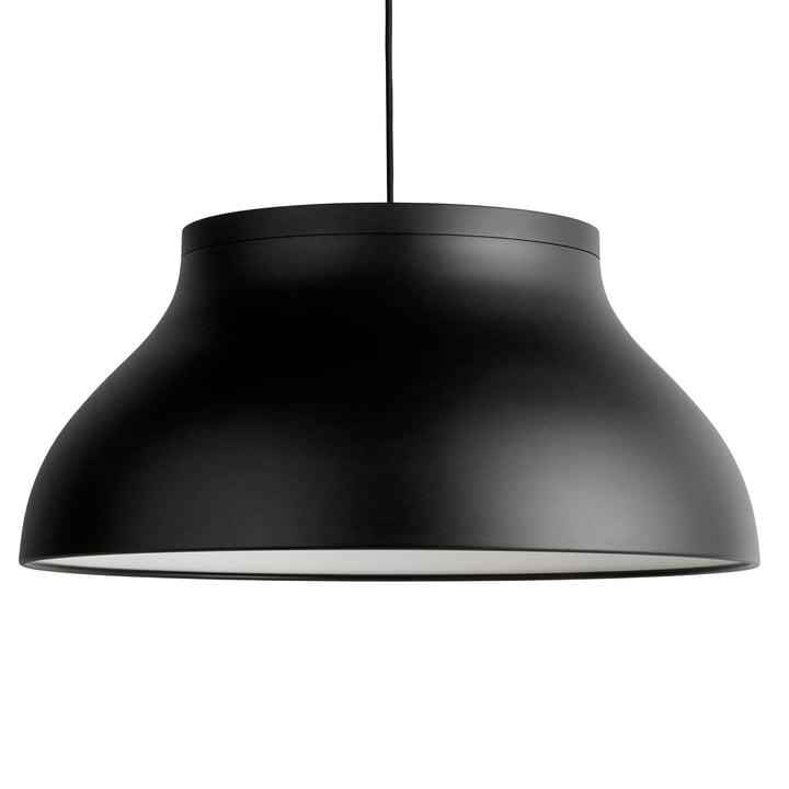 PC Pendelleuchte L, Ø 60 x H 28 cm, soft black von Hay