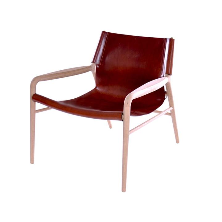 Rama Lounge Chair, Eiche geseift / Leder cognac von Ox Denmarq