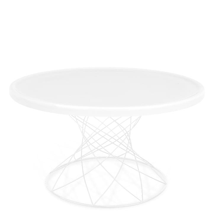 Merge Couchtisch H 45 Ø 80 cm, weiß / Porzellan weiß von Ox Denmarq