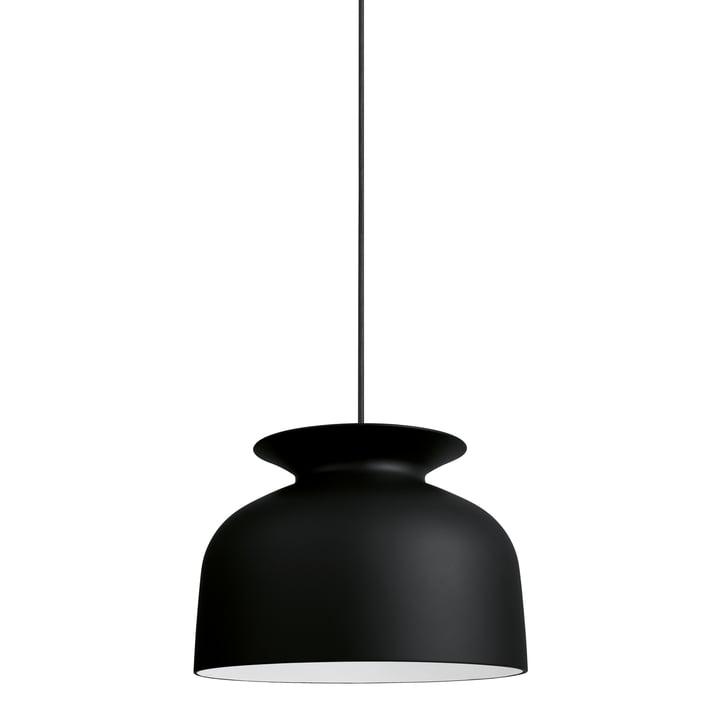 Gubi - Ronde Pendelleuchte, Ø 40 cm, schwarz